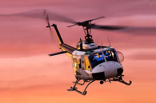 Airspan- Heli at Sunset
