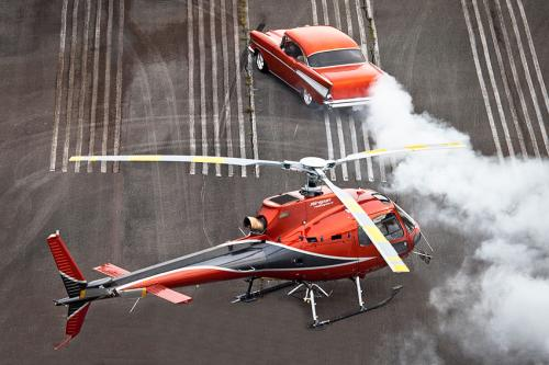Airspan- Heli over drifting car